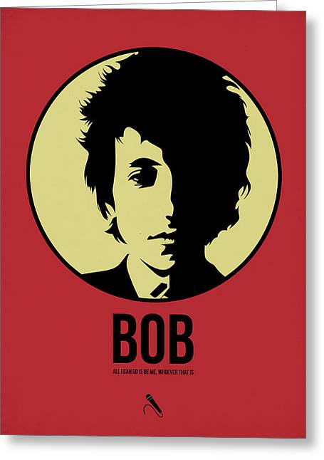 Singer Mixed Media Greeting Cards - Bob Poster 1 Greeting Card by Naxart Studio