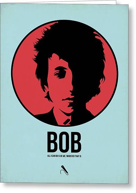 Singer Mixed Media Greeting Cards - Bob Poster 2 Greeting Card by Naxart Studio