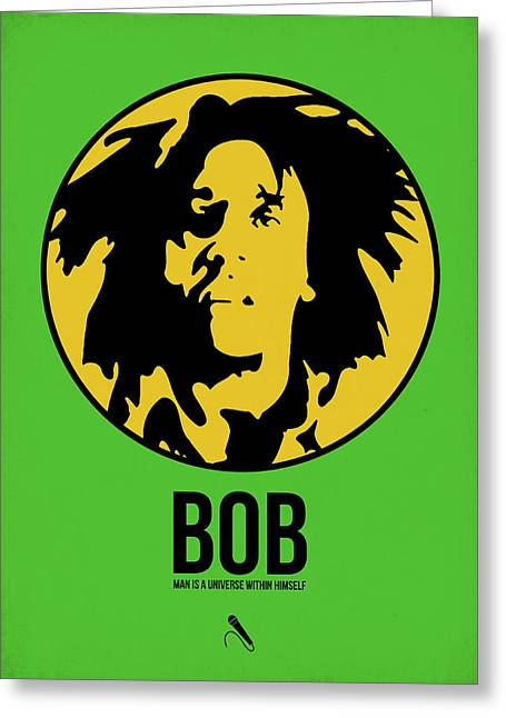 Rasta Greeting Cards - Bob Poster 3 Greeting Card by Naxart Studio