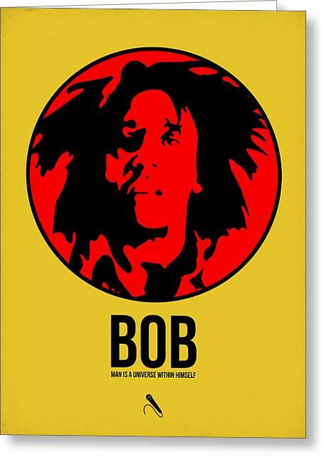 Jamaican Greeting Cards - Bob Poster 4 Greeting Card by Naxart Studio