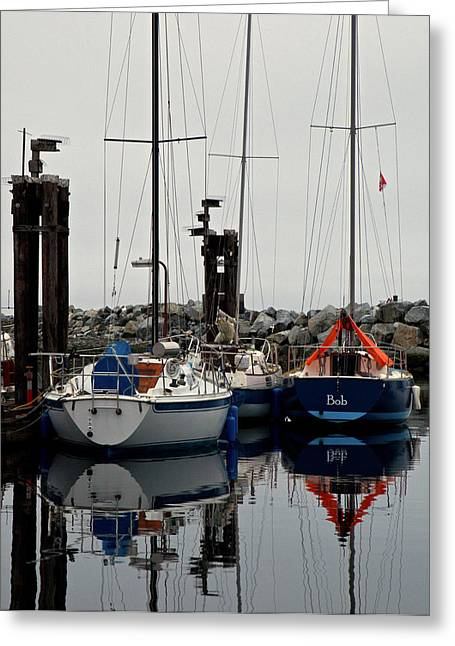 French Creek Marina Greeting Cards - Bob Greeting Card by Randy Hall