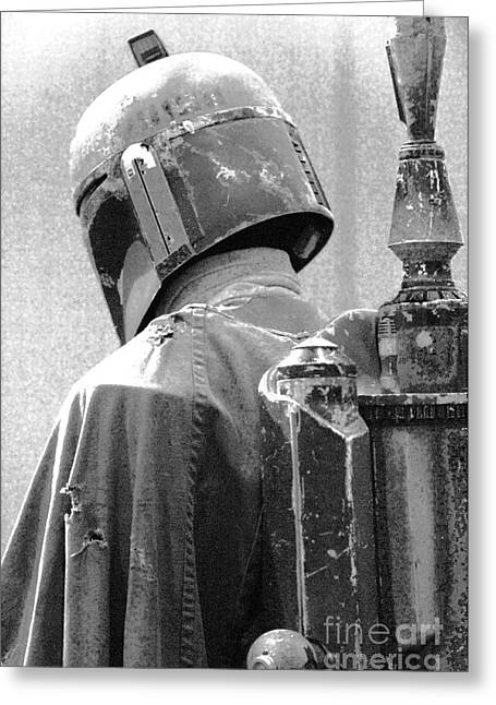 Jet Star Greeting Cards - Boba Fett Costume 3 Greeting Card by Micah May