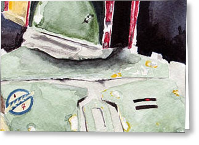 Boba Fett Greeting Card by David Kraig