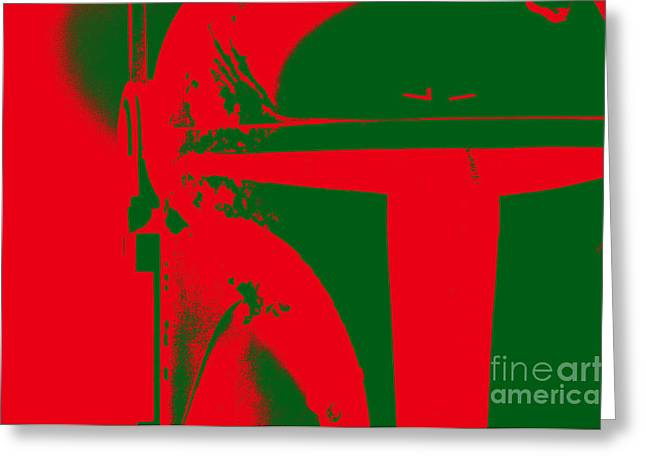 Science Fiction Greeting Cards - Boba Fett Helmet 1 Greeting Card by Micah May