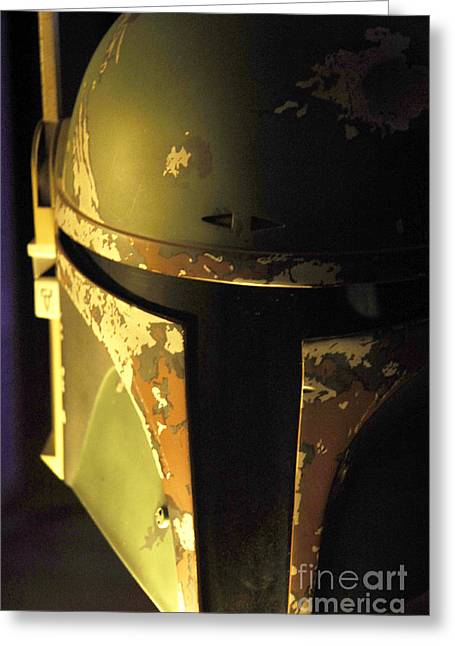 Movie Prop Greeting Cards - Boba Fett Helmet 124 Greeting Card by Micah May