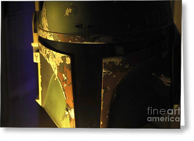 Movie Prop Greeting Cards - Boba Fett Helmet 125 Greeting Card by Micah May