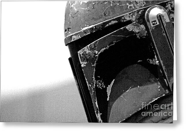 Star Wars Photographs Greeting Cards - Boba Fett Helmet 24 Greeting Card by Micah May