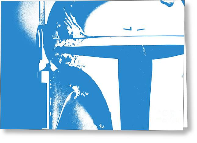 Science Fiction Greeting Cards - Boba Fett Helmet 3 Greeting Card by Micah May