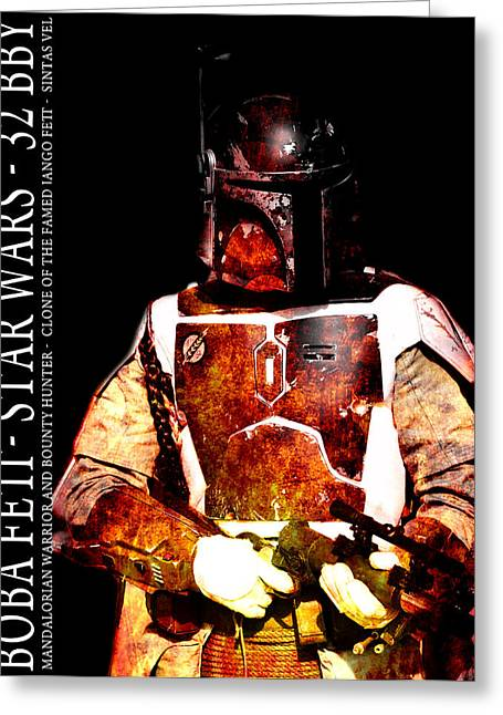 Bounty Hunter Greeting Cards - Boba Fett Greeting Card by Toppart Sweden