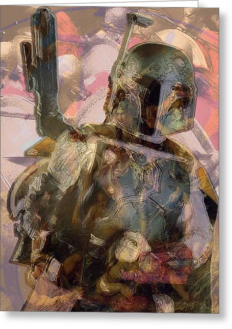 Boba In Dream State  Greeting Card by G Knight
