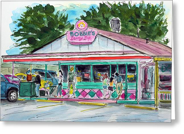 Bobbies Greeting Cards - Bobbies Dairy Dip Nashville Greeting Card by Tim Ross