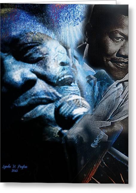 Lynda Payton Greeting Cards - Bobby Blue Bland Greeting Card by Lynda Payton