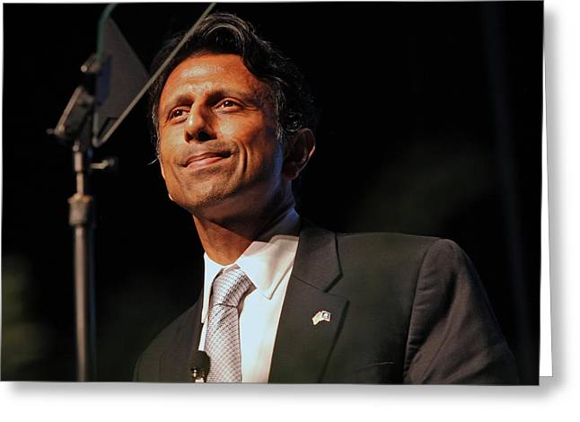 Conservative Greeting Cards - Bobby Jindal Greeting Card by Mike Flynn
