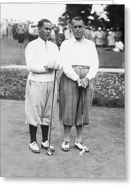 Cyril Greeting Cards - Bobby Jones At Pebble Beach Greeting Card by Underwood Archives