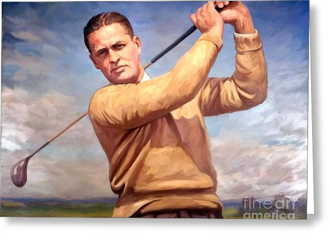 Slam Greeting Cards - bobby Jones Greeting Card by Tim Gilliland
