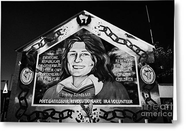 Belfast Greeting Cards - Bobby Sands Mural Belfast Greeting Card by Joe Fox