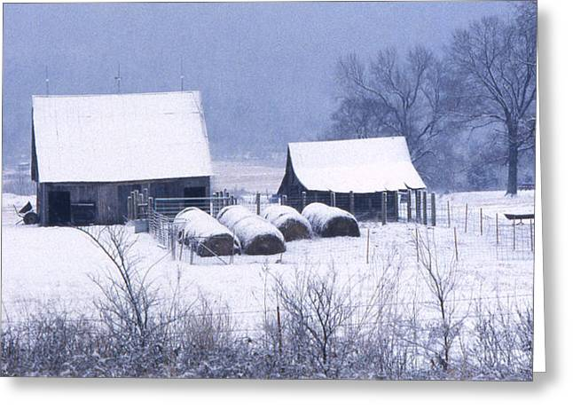 Winter Scenes Rural Scenes Photographs Greeting Cards - Bobbys Barn Greeting Card by Garry McMichael