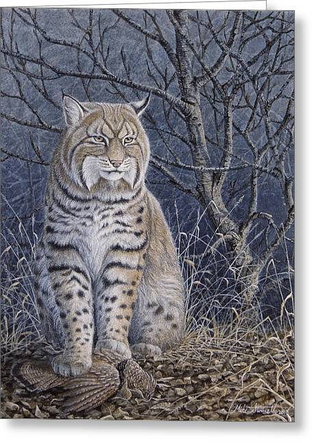 Bobcats Greeting Cards - Bobcat Greeting Card by Mike Stinnett