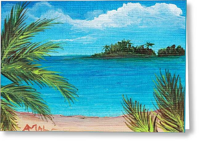 Beach Prints Drawings Greeting Cards - Boca Chica Beach Greeting Card by Anastasiya Malakhova