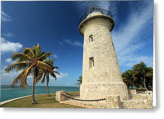 Boca Chita Lighthouse Greeting Card by Adam Jewell