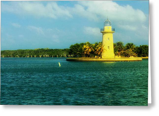 Biscayne Bay Greeting Cards - Boca Chita Lighthouse - Florida Greeting Card by Mountain Dreams