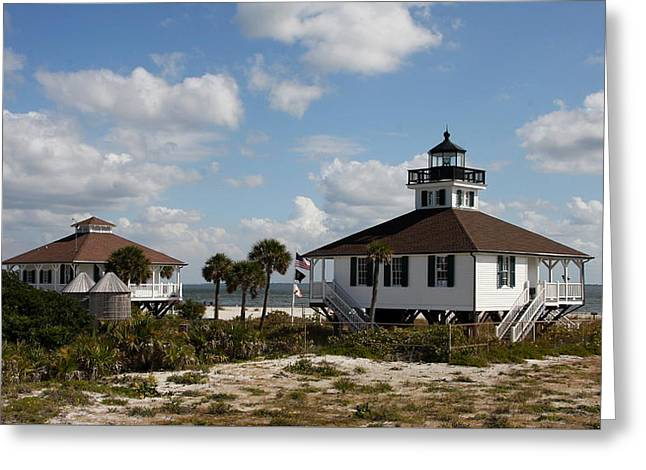 Boca Grande Lighthouse Greeting Card by Christiane Schulze Art And Photography