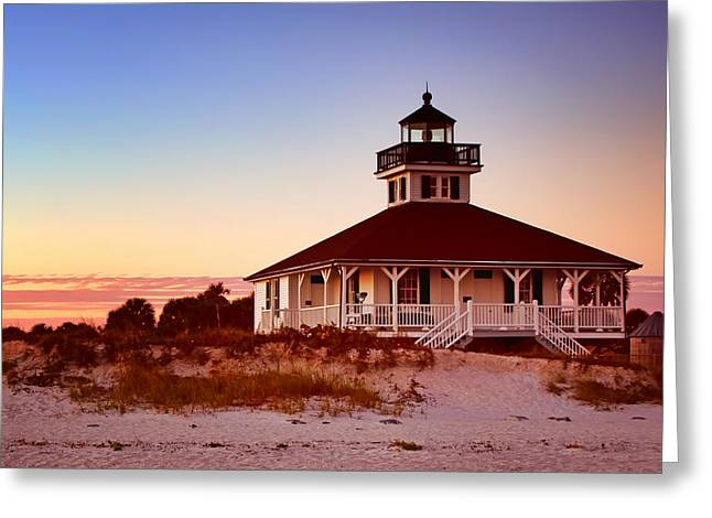 Frame House Photographs Greeting Cards - Boca Grande Lighthouse - Florida Greeting Card by Nikolyn McDonald