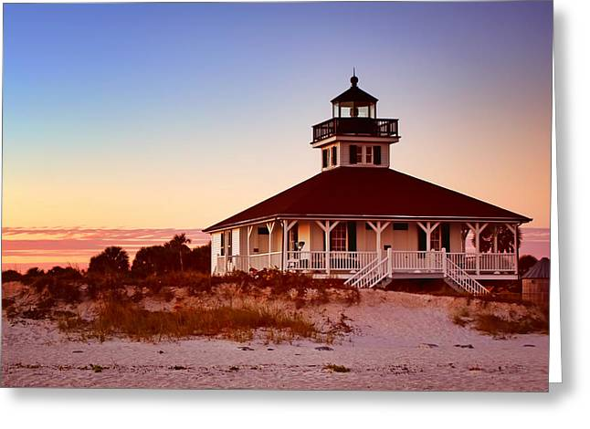 Boca Greeting Cards - Boca Grande Lighthouse - Florida Greeting Card by Nikolyn McDonald