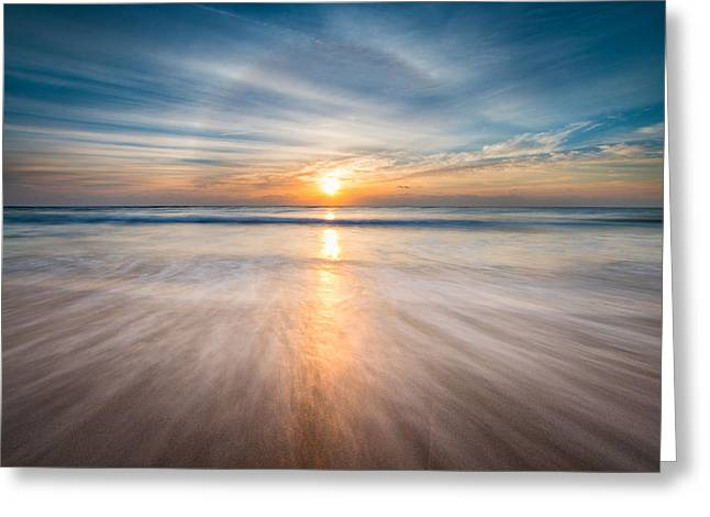 Boca Greeting Cards - Boca Raton FL Beach - Sun Dog Sunrise Greeting Card by Dave Allen