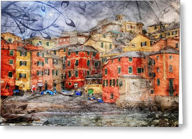 Italian Med Greeting Cards - Boccadasse Greeting Card by Andrea Barbieri