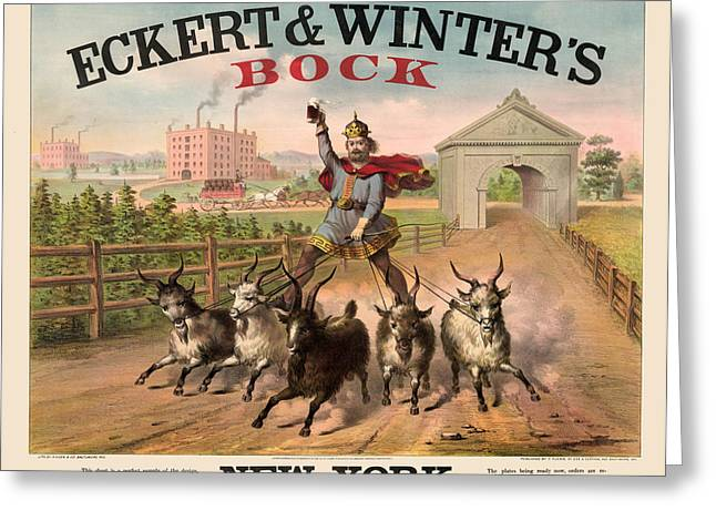 Antique Digital Art Greeting Cards - Bock Beer Greeting Card by Gary Grayson