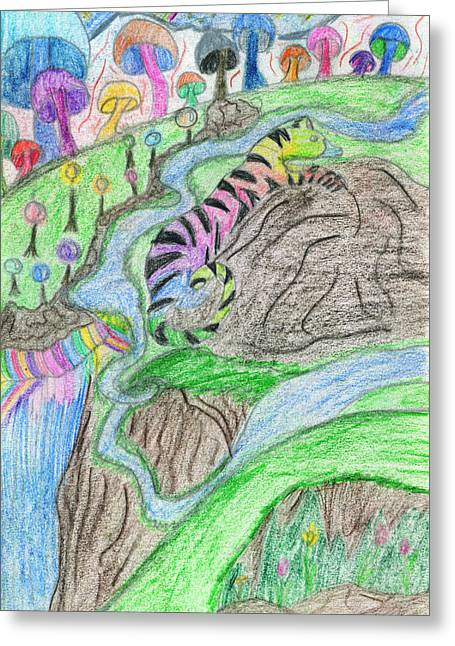 Fantasy Creatures Greeting Cards - Bodacious Land Greeting Card by Kd Neeley