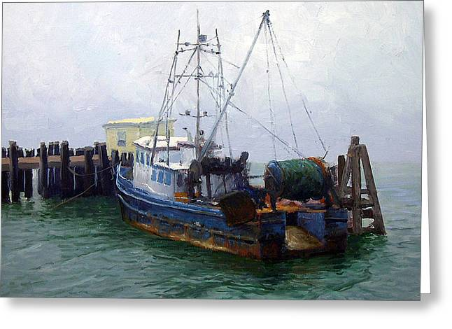 Sonoma County Greeting Cards - Bodega Trawler Greeting Card by Armand Cabrera