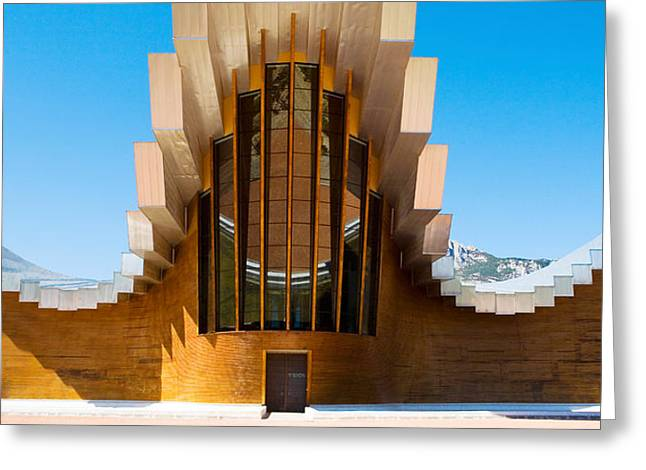 Winery Images Greeting Cards - Bodegas Ysios Winery Building, La Greeting Card by Panoramic Images