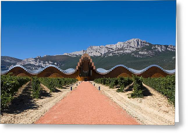 Bodegas Ysios Winery Building Greeting Card by Panoramic Images