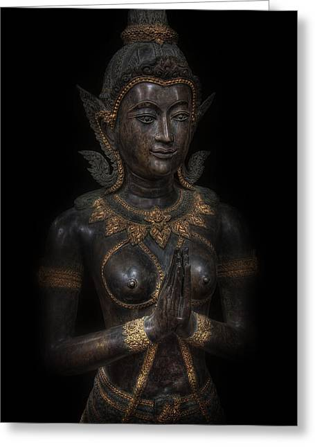 Indian Princess Greeting Cards - Bodhisattva Princess Greeting Card by Daniel Hagerman