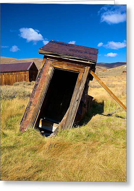 Bodie Out House Greeting Cards - Bodie 13 Greeting Card by Richard J Cassato
