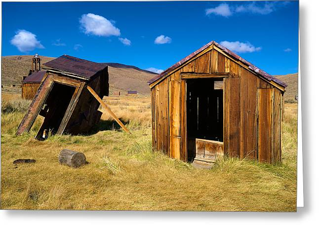 Bodie Out House Greeting Cards - Bodie 15 Greeting Card by Richard J Cassato