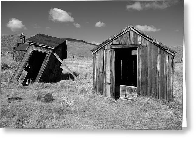 Bodie Out House Greeting Cards - Bodie 16 Greeting Card by Richard J Cassato