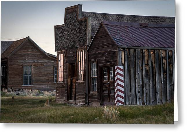Bodie Greeting Cards - Bodie Bar and Barber Greeting Card by Cat Connor