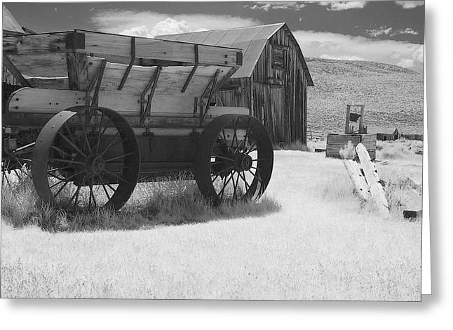 Old Barns Greeting Cards - Bodie CA - Praise the Lord and pass the ammunition Greeting Card by Christine Till