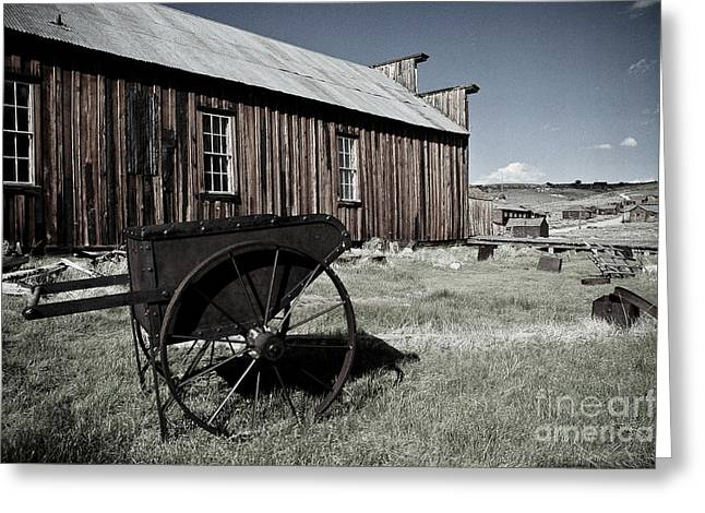 Spokes Paintings Greeting Cards - Bodie California  Greeting Card by Nick  Boren
