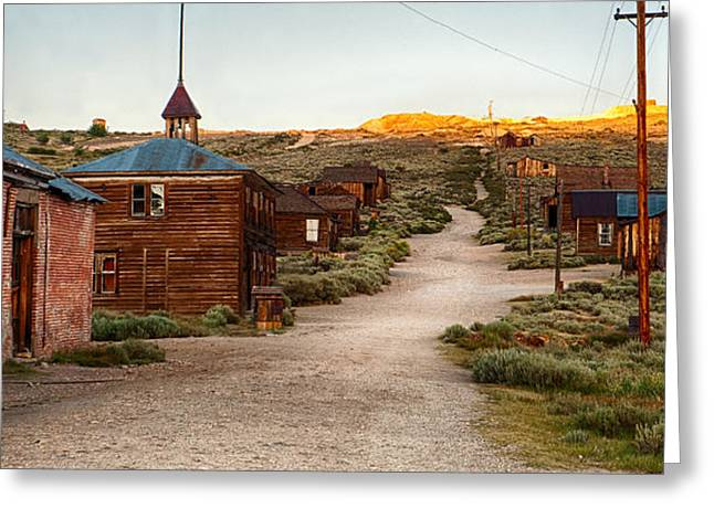 Brown Building Greeting Cards - Bodie California Greeting Card by Cat Connor
