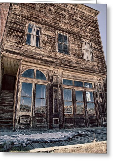 Old West Greeting Cards - Bodie Greeting Card by Cat Connor