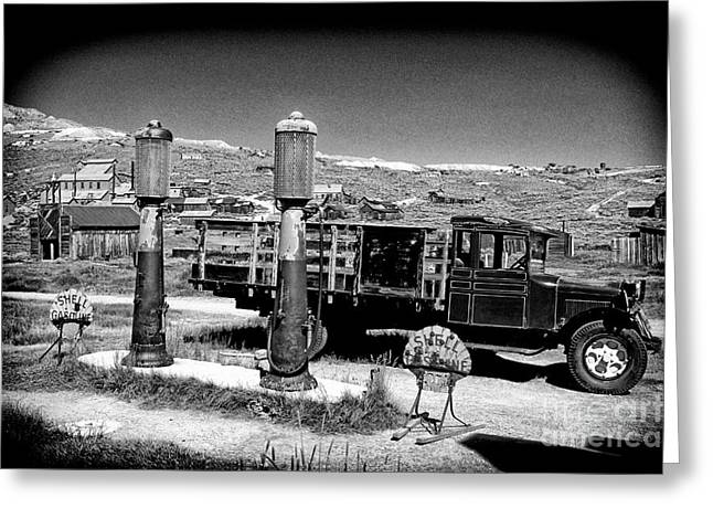Shell Sign Greeting Cards - Bodie gas Greeting Card by Paul W Faust -  Impressions of Light