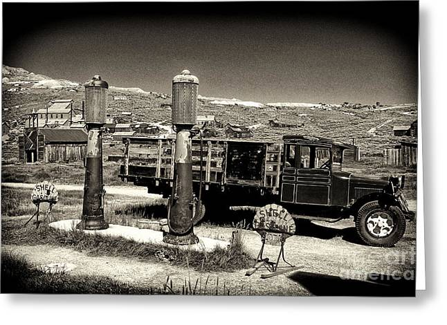 Shell Sign Greeting Cards - Bodie Gas Station Greeting Card by Paul W Faust -  Impressions of Light
