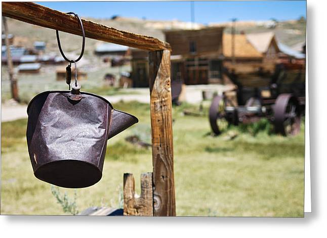 Rusted Greeting Cards - Bodie Ghost Town 2 - Old West Greeting Card by Shane Kelly