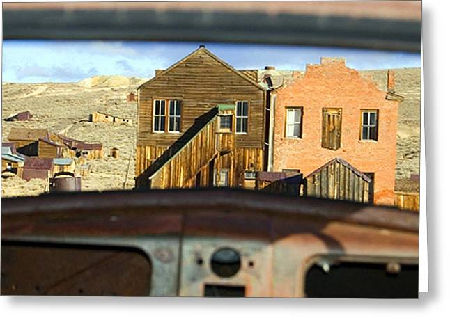 Town Square Greeting Cards - Bodie ghost town Greeting Card by Laura Marie Jones