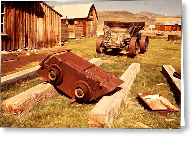Bridgeport California Greeting Cards - Bodie Ghost Town Ore Car Greeting Card by Dick Rowan