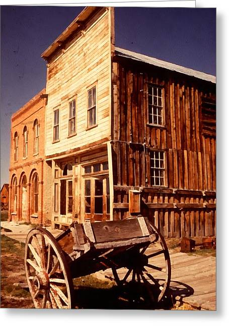 Bridgeport California Greeting Cards - Bodie Ghost Town Wagon Greeting Card by Dick Rowan